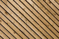 Wood diagonal panelling panels running diagonally Stock Image