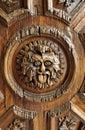 Wood Door Face La Valenciana Guanajuato Royalty Free Stock Photo