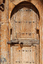 Wood door in marrakesh a house Royalty Free Stock Image