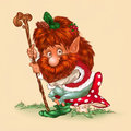 Wood Elf  fairy tale cartoon character Royalty Free Stock Photo