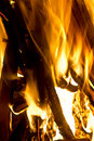 Wood fire Royalty Free Stock Images