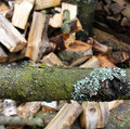 Wood fire and old ill Royalty Free Stock Photos