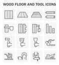 Wood floor icon Royalty Free Stock Photo
