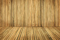 Wood Floor and Wall Planks, Room Boarded By Old Brown Plank Royalty Free Stock Photo