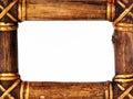 Wood frame border Royalty Free Stock Image