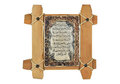 Wood frame and islamic writing Royalty Free Stock Photo