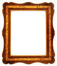 Wood frame isolated on white background Stock Photos