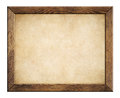 Wood frame with old paper background Royalty Free Stock Photo