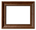 Wood frame for picture on isolated white Royalty Free Stock Photo
