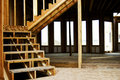 Wood Frame Stairs Home Construction Royalty Free Stock Photo