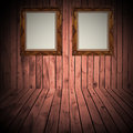 Wood frame wall the wooden terrace farms for background Royalty Free Stock Photos