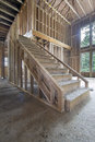 Wood Framing for House Staircase Royalty Free Stock Photo