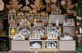 Wood fretwork art in stall at xmas market stuttgart germany dec items of on sale christmas shot on dec germany Stock Photography