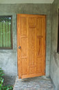 Wood front door of a home Royalty Free Stock Photo