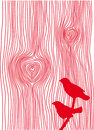 Wood grain hearts,