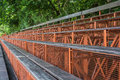 Wood grandstand in the university of bangkok Royalty Free Stock Image