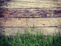 Wood grass background old vintage retro style Stock Images