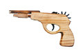 Wood gun isolated toy on white Stock Image