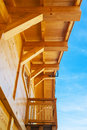 Wood house construction typical architecture in haute savoie france Stock Image