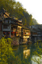 Wood houses of China Stock Images