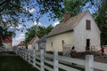 Wood houses farm mount vernon virginia Royalty Free Stock Photo