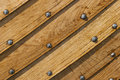 Wood hull of a boat with old nails Royalty Free Stock Images