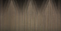 Wood lath wall background and texture Stock Images
