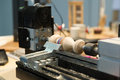 Wood lathe photo of an Royalty Free Stock Photography