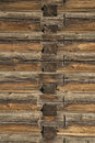 Wood logs texture of an old house.
