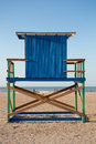 Wood Lonely lifeguard tower on the beach in Colombia Royalty Free Stock Photo