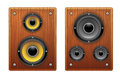 Wood Loud Speaker Isolated Royalty Free Stock Images