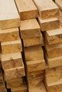 Wood lumber pile Royalty Free Stock Photo