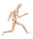 Wood mannequin running