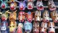 Wood masks guatemala chichicastenango at chichicastenango market wooden used for traditional dances Stock Photo