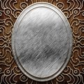 Wood and metal ornament on old wooden background vintage collection Royalty Free Stock Photos