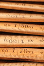 Wood Meter Stock Photo
