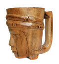 Wood mug Royalty Free Stock Image