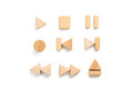 Wood multimedia player icon set. Royalty Free Stock Photo