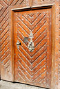 Wood nailed door Royalty Free Stock Photo
