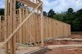 Wood New Home Framing Royalty Free Stock Photo