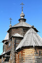 Wood orthodox architecture Royalty Free Stock Photography