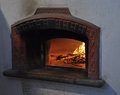 Wood oven and open fire traditional bread Stock Image