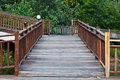 Wood path walkway Royalty Free Stock Image