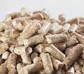 Wood pellets alternative fuel made of sawmill waste Stock Photos