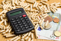 Wood pellets as ecological and economical heating Stock Image