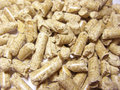 Wood pellets background Royalty Free Stock Image