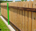Wood picket fence details. Royalty Free Stock Photo