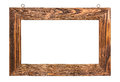 Wood picture frame Royalty Free Stock Photo