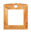 Wood picture frame isolated on white background Royalty Free Stock Images