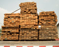 Wood pile bind ready to be delivered to customer Royalty Free Stock Photo